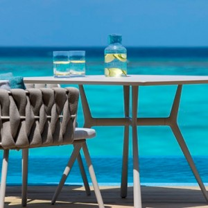 Velassaru Maldives - Luxury Maldives Honeymoon Packages - Water Suite deck view