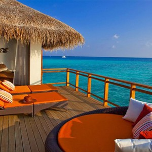 Velassaru Maldives - Luxury Maldives Honeymoon Packages - Water Villa deck1