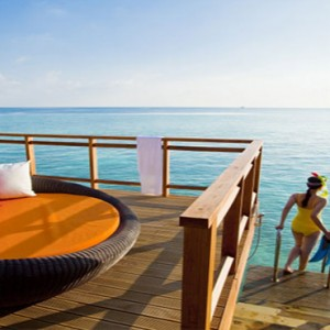 Velassaru Maldives - Luxury Maldives Honeymoon Packages - Water Villa steps to lagoon