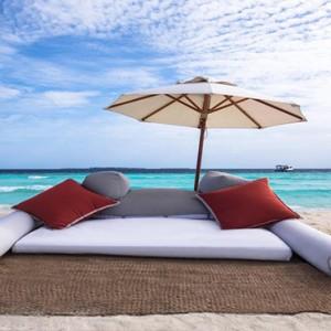Vivanta By Taj - Coral Reef - Luxury Maldives Honeymoon Packages - Seating on beach