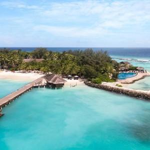 Vivanta By Taj - Coral Reef - Luxury Maldives Honeymoon Packages - aerial view1