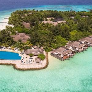 Vivanta By Taj - Coral Reef - Luxury Maldives Honeymoon Packages - aerial view2