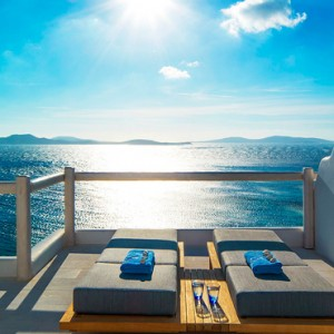 EXECUTIVE SEA VIEW SUITE 5 - Mykonos Grand Hotel and Resort - luxury Greece honeymoon Packages