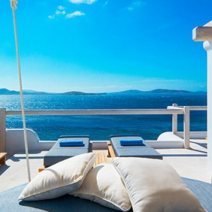 EXECUTIVE SEA VIEW SUITE 8 - Mykonos Grand Hotel and Resort - luxury Greece honeymoon Packages