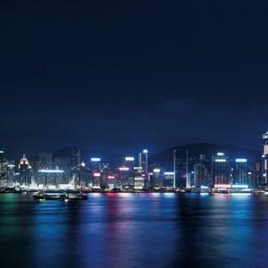 Hong Kong Honeymoon Packages Kowloon Shangri La Exterior View At Night