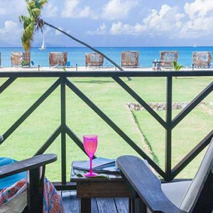 Keyonna Beach - Luxury Antigua Honeymoon Packages - Balcony of Cottage Unit with View of Beach