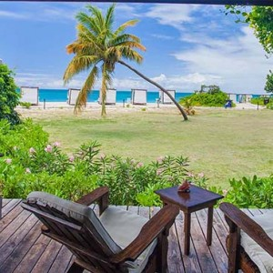 Keyonna Beach - Luxury Antigua Honeymoon Packages - Balcony of a cottage unit with beach view