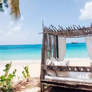 Keyonna Beach - Luxury Antigua Honeymoon Packages - Bali Bed on beach