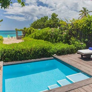 Keyonna Beach - Luxury Antigua Honeymoon Packages - Beachfront Pool Cottages Balcony