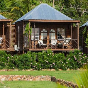 Keyonna Beach - Luxury Antigua Honeymoon Packages - Cottage units seen from the direction of the beach
