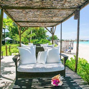 Keyonna Beach - Luxury Antigua Honeymoon Packages - Public Lounge just steps away from the Beach