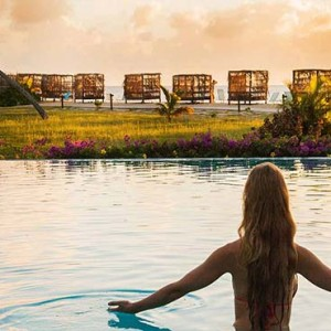 Keyonna Beach - Luxury Antigua Honeymoon Packages - Resort pool with beach view