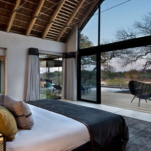 Lion Sands Game Reserve - Luxury South Africa Honeymoon Packages - Ivory lodge interior bedroom
