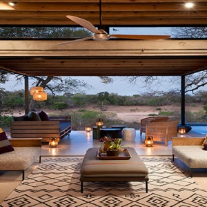 Lion Sands Game Reserve - Luxury South Africa Honeymoon Packages - Ivory lodge living area