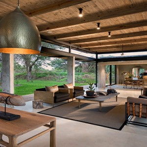 Lion Sands Game Reserve - Luxury South Africa Honeymoon Packages - Ivory lodge outdoor area