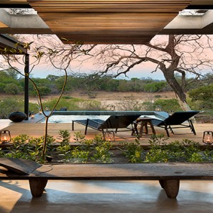 Lion Sands Game Reserve - Luxury South Africa Honeymoon Packages - Ivory lodge pool view
