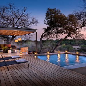 Lion Sands Game Reserve - Luxury South Africa Honeymoon Packages - Ivory lodge private pool deck