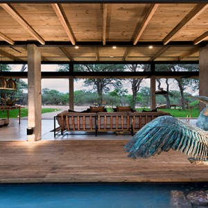 Lion Sands Game Reserve - Luxury South Africa Honeymoon Packages - Ivory lodge welcome entrance