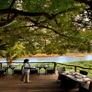 Lion Sands Game Reserve - Luxury South Africa Honeymoon Packages - Narina Lodge breakfast on the deck