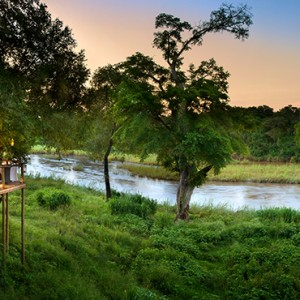 Lion Sands Game Reserve - Luxury South Africa Honeymoon Packages - Narina Lodge dinner