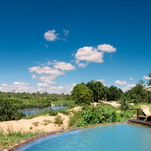 Lion Sands Game Reserve - Luxury South Africa Honeymoon Packages - River lodge pool