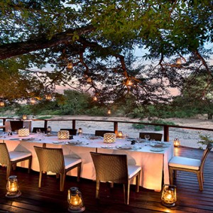 Lion Sands Game Reserve - Luxury South Africa Honeymoon Packages - River lodge river deck