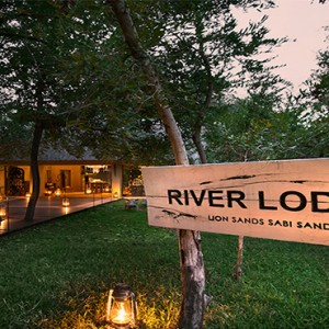Lion Sands Game Reserve - Luxury South Africa Honeymoon Packages - River lodge welcome entrance
