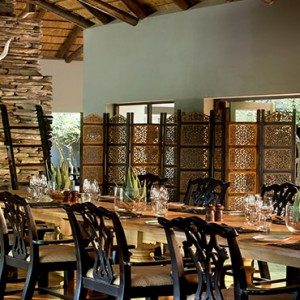 Lion Sands Game Reserve - Luxury South Africa Honeymoon Packages - Tinga lodge dining