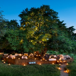 Lion Sands Game Reserve - Luxury South Africa Honeymoon Packages - Tinga lodge exterior deck