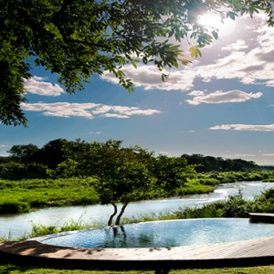 Lion Sands Game Reserve - Luxury South Africa Honeymoon Packages - Tinga lodge pool