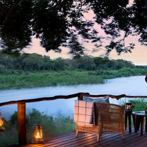Lion Sands Game Reserve - Luxury South Africa Honeymoon Packages - Tinga lodge river view