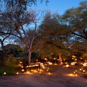 Lion Sands Game Reserve - Luxury South Africa Honeymoon Packages - bush dinner
