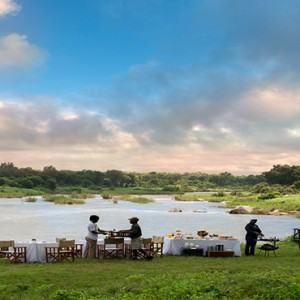 Lion Sands Game Reserve - Luxury South Africa Honeymoon Packages - outdoor dining