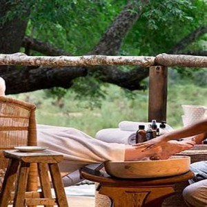 Lion Sands Game Reserve - Luxury South Africa Honeymoon Packages - spa foot massage