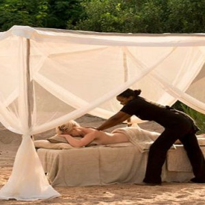 Lion Sands Game Reserve - Luxury South Africa Honeymoon Packages - spa massage outdoors