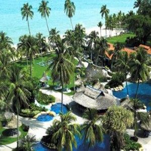 Malaysia Honeymoon Packages Golden Sands Resort By Shangri La, Penang Aerial View1