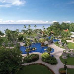 Malaysia Honeymoon Packages Shangri La Rasa Sayang Resort Aerial View