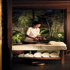 Malaysia Honeymoon Packages Shangri La Rasa Sayang Resort CHI Therapist In Villa