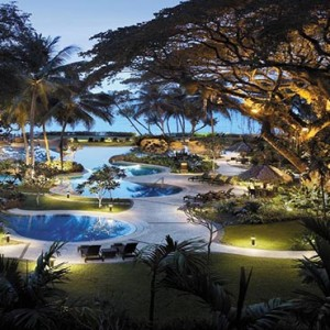 Malaysia Honeymoon Packages Shangri La Rasa Sayang Resort Garden Wing Pool In Evening