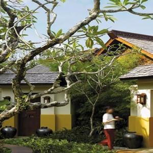 Malaysia Honeymoon Packages Shangri La Rasa Sayang Resort Outside The Villa Yoga