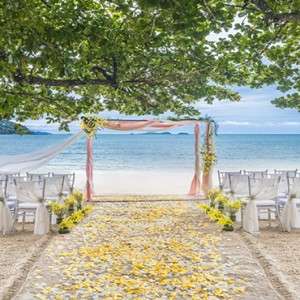 Malaysia Honeymoon Packages The Andaman Langkawi Wedding Setup At The Beach