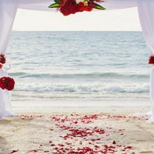 Malaysia Honeymoon Packages The Andaman Langkawi Wedding Setup On The Beach