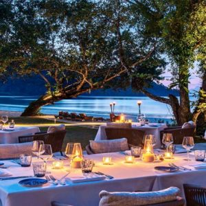 Malaysia Honeymoon Packages The Datai Langkawi The Beach Club (Dinner Setting)