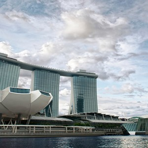 Marina Bay Sands - Luxury Singapore Honeymoon Packages -artscience museum exterior