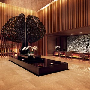 Marina Bay Sands - Luxury Singapore Honeymoon Packages - banyan tree spa lobby