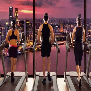 Marina Bay Sands - Luxury Singapore Honeymoon Packages - fitness with a view