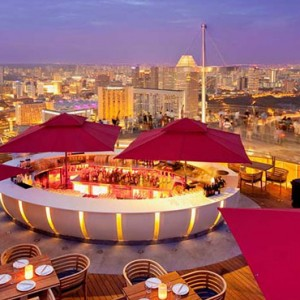 Marina Bay Sands - Luxury Singapore Honeymoon Packages - Ce La Vi restaurant and sky bar aerial view