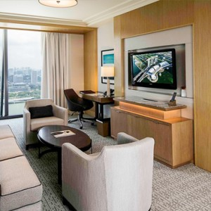 Marina Bay Sands - Luxury Singapore Honeymoon Packages - Orchid Suite living area