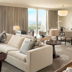 Marina Bay Sands - Luxury Singapore Honeymoon Packages - Sands Suite living area