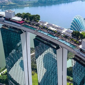 Marina Bay Sands - Luxury Singapore Honeymoon Packages - aerial view